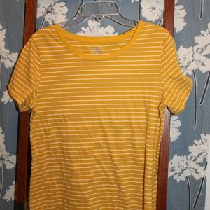 Yellow and White Striped Old Navy Tee